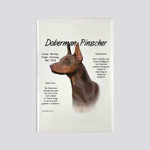 Doberman (red) Rectangle Magnet