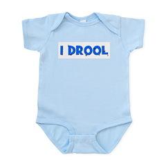 I Drool - Blue Infant Creeper