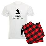 Where There Walks a Logger Men's Light Pajamas