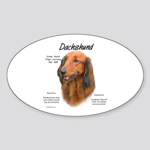 Longhair Dachshund Sticker (Oval)