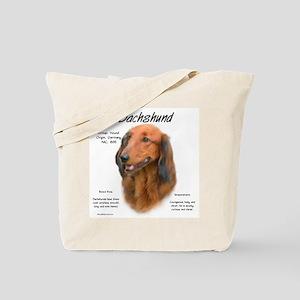 Longhair Dachshund Tote Bag