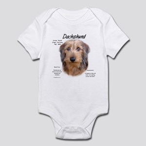 Wirehaired Dachshund Baby Light Bodysuit