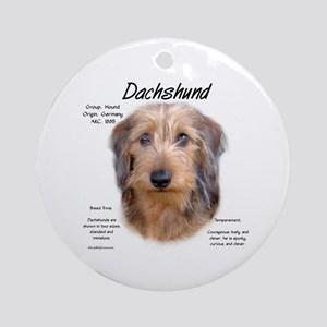 Wirehaired Dachshund Round Ornament