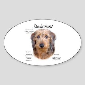 Wirehaired Dachshund Sticker (Oval)