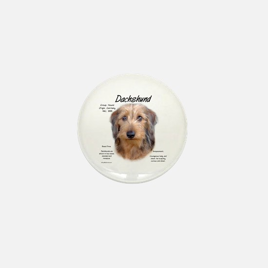 Wirehaired Dachshund Mini Button