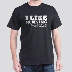 I Like Running and Dessert Dark T-Shirt