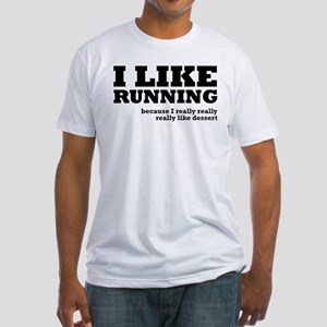 I Like Running and Dessert Fitted T-Shirt