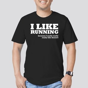 I Like Running and Dessert Men's Fitted T-Shirt (d