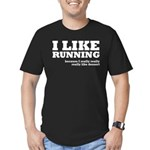 I Like Running and Dessert Men's Fitted T-Shirt (d