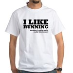I Like Running and Dessert White T-Shirt