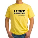 I Like Running and Dessert Yellow T-Shirt