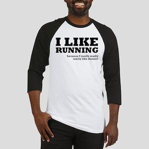 I Like Running and Dessert Baseball Jersey