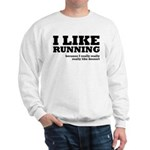 I Like Running and Dessert Sweatshirt