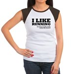 I Like Running and Dessert Women's Cap Sleeve T-Sh