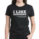 I Like Running and Dessert Women's Dark T-Shirt