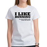 I Like Running and Dessert Women's T-Shirt