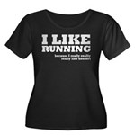 I Like Running and Dessert Women's Plus Size Scoop
