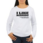 I Like Running and Dessert Women's Long Sleeve T-S