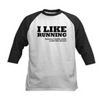 I Like Running and Dessert Kids Baseball Jersey