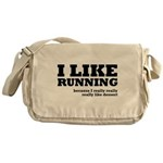 I Like Running and Dessert Messenger Bag