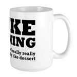 I Like Running and Dessert Large Mug