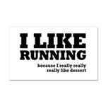I Like Running and Dessert Car Magnet 20 x 12
