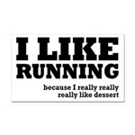 I Like Running and Dessert Rectangle Car Magnet