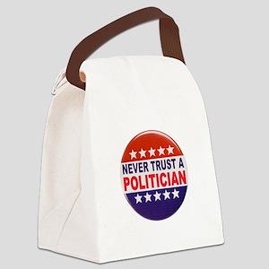 POLITICIAN BUTTON Canvas Lunch Bag