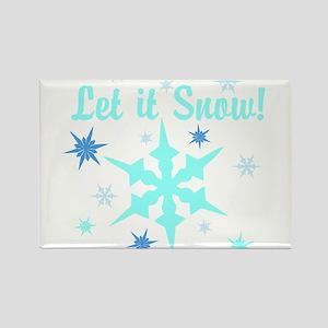Let It Snow! Rectangle Magnet