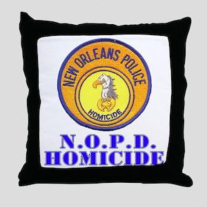 NOPD Homicide Throw Pillow