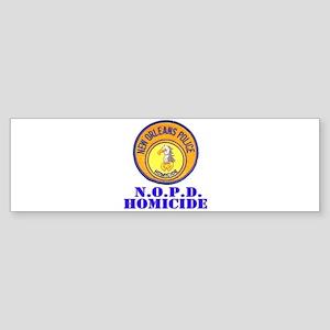 NOPD Homicide Bumper Sticker