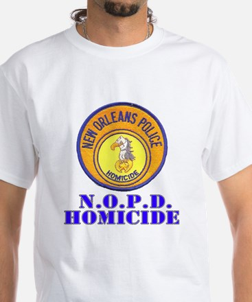 NOPD Homicide White T-Shirt