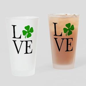 Shamrock Love Drinking Glass