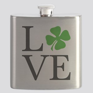 Shamrock Love Flask
