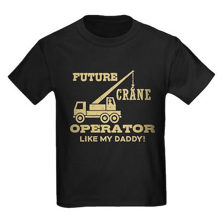 Future Crane Operator Kids Dark T-Shirt