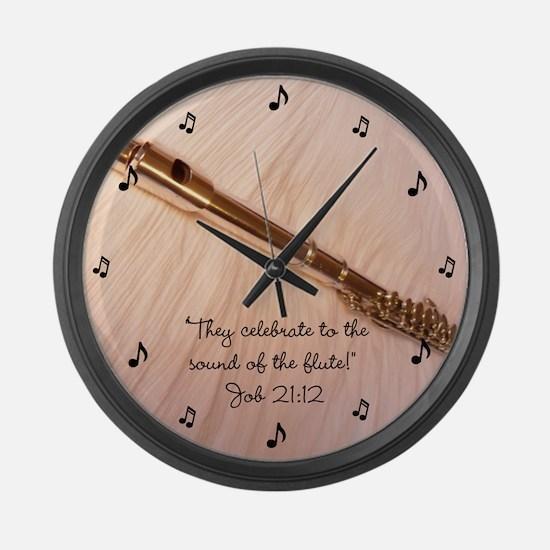 Flute Sound Celebration Large Wall Clock
