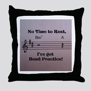 No Time to Rest Throw Pillow