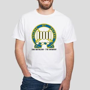 NEW! 3ID,1st Brig. 2-7 White T-Shirt