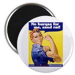 No Burqas Rosie Riveter Magnet