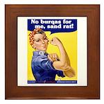 No Burqas Rosie Riveter Framed Tile