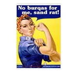 No Burqas Rosie Riveter Postcards (Package of 8)