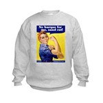 No Burqas Rosie Riveter Kids Sweatshirt