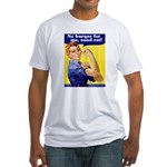 No Burqas Rosie Riveter Fitted T-Shirt