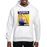 No Burqas Rosie Riveter Hooded Sweatshirt