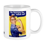 No Burqas Rosie Riveter Mug