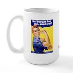 No Burqas Rosie Riveter Large Mug