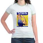 No Burqas Rosie Riveter Jr. Ringer T-Shirt