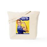 No Burqas Rosie Riveter Tote Bag