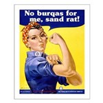 No Burqas Rosie Riveter Small Poster