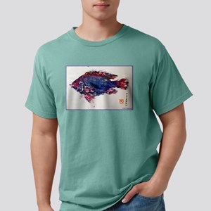 Asian Fish print, art! Mens Comfort Colors Shirt